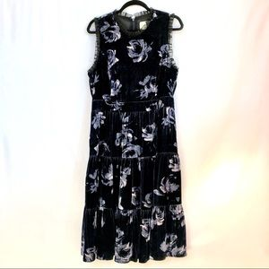 Kate Spade Night Rose Velvet Dress Sz 12